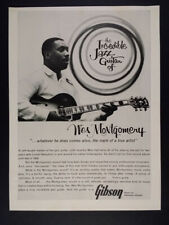1963 Wes Montgomery photo Gibson Guitar vintage print Ad