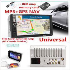 7'' HD 1080P In-dash Car GPS Navigation Bluetooth Stereo+Touch Screen MP5 Player