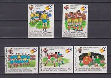 s5602) COMORES 1982 MNH** World Cup Football - CM Calcio 5v IMPERF