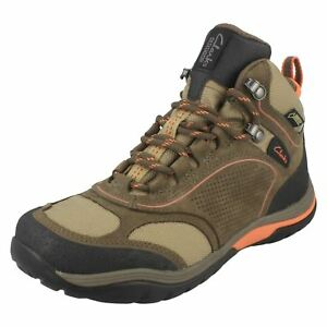 LADIES CLARKS INTOUR ROUTE GTX NUBUCK LACE UP WATERPROOF LEATHER WALKING BOOTS