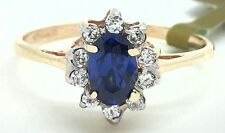 GENUINE 0.48 Carats TANZANITE & DIAMONDS RING 14K GOLD ** Brand New With Tag **