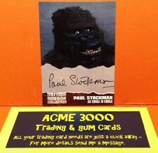 Unstoppable BRITISH HORROR COLLECTION - Paul Stockman - Autograph Card - PS3