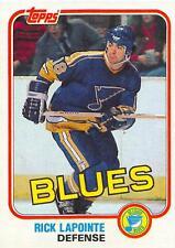 (HCW) 1981-82 Topps #W119 Rick Lapointe NM-MT Blues