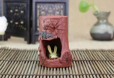 1pc China Yixing Purple Clay Tea Pet Teapot lid Holder Rabbit Tea Decoration