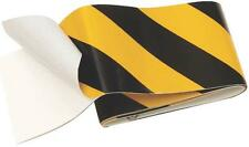 "NEW HYKO TAPE-1 2"" X 24"" YELLOW & BLACK SELF ADHESIVE REFLECTOR TAPE 6635684"