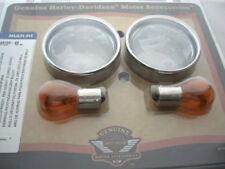 Harley Davidson Blinker Glas Blinkergläser mit Zierringen klar hinten 69755-04