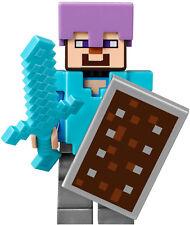 LEGO® Minecraft™ Figur Steve mit Schild Dia 21143 Nether Portal min060 brandneu