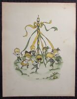 """1963 Joan Walsh Anglund 11x14.5"""" Print VG+ Spring is a New Beginning 1"""