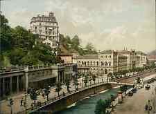 Böhmen. Karlsbad. Kurhaus. PZ vintage photochromie, photochrom photochromie, v