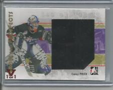 2007-08 Heroes & prospects Carey Price #139 Jersey Vault 1 of 1 red Montreal