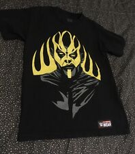 WWE Goldust T Shirt Men's Small Black Ashes To Ashes Gold To Dust Authentic
