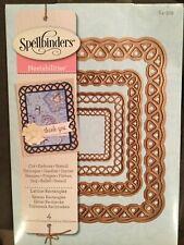 New Spellbinders Nestabilities Lattice Rectangles Dies S4-319