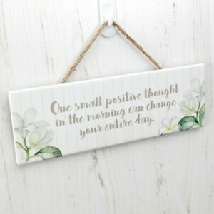 Splosh Pacific Breeze POSITIVE THOUGHT Inspirational Hanging Sign Wall Decor