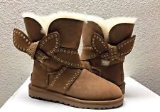 UGG MABEL CHESTNUT CLASSIC BAILEY BOW SHORT BOOT USA 9 / EU 40 / UK 7.5