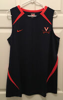 New Virginia UVA Cavaliers Women's Basketball Team Issued Nike Blue Tank Top XL