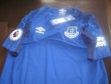 EVERTON HOME SHIRT 207/18  WITH ANGRY BIRD/PREMIER PATCHES XLB TAGS