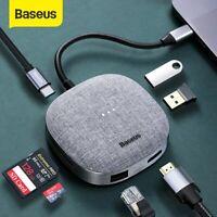 Baseus 7in1 USB C HUB Typ-C zu USB 3.0 4K HDMI SD/TF RJ45 Port für Macbook iPad