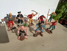 vintage Marx Warriors Of The World, Pirates Caribbean lot of 8 plastic toy, GT