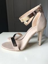 SCHUH Designer Ladies Women High Heel Sandal Shoe Nude Size 8 41