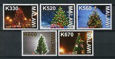 Malawi 2014 MNH Christmas Tree 5v Set Stamps Trees Seasonal Stamps