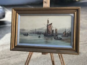 Watercolour Of Grimsby By F E Jamieson 1895-1950 Marine Painting.