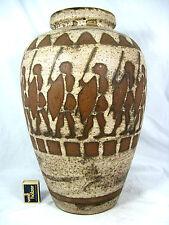 """Rare / seltene 70´s design Ceramano pottery Keramik vase """"Ägina"""" 106 / 2   42cm"""