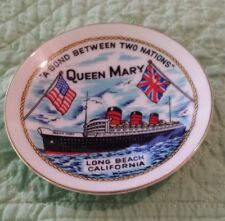 """""""A Bond Between Two Nations"""" QUEEN MARY, LONG BEACH, CA Souvenir Hanging Plate"""
