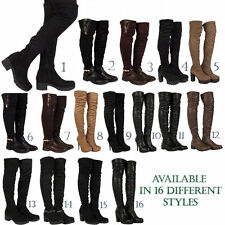 Zip Faux Suede Knee High Boots for Women