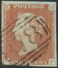 1841 1d Red Pl 72 TF 4m Fine Light '878' of Wigan Very Fine Used Cat. £30.00