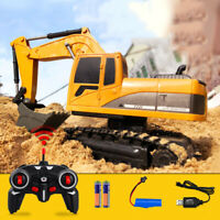 RC Bagger Fernbedienung Bagger Bau Spielzeug Fahrzeug Modell Geschenk 6CH