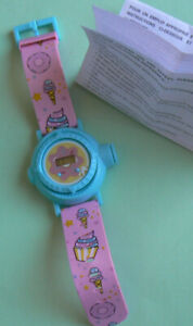 Avon SWEET TREATS PROJECTION WATCH,ages 6+ NIB NEW w/battery,time,date,10 pics