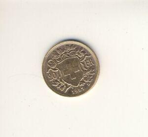 Goldmünze 20 Franken 1927 Schweiz # Vrenli # echt