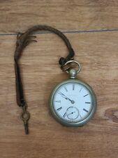 Wind Pocket Watch Antique Elgin Key