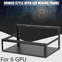 Open Air Mining Rig Case Rack Miner Frame For Ethereum 4 Fans 6 GPU ETH BTC BEST