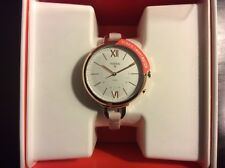 Women's Fossil Q Annette Hybrid Pink Leather SmartWatch FTW5023, New In Box!