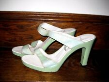 Gina Lime Green Sparkle Sandals Size UK 5.5