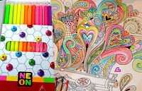 COLLEEN NEON SET PENCILS 12 COLOR KID ART DRAWING NON-TOXIC+FREE SHIP.