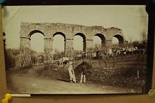 antique old PHOTO LEROUX  Arab Muslim AFRICA ruins aqueduct roman ALGERIA 1890s