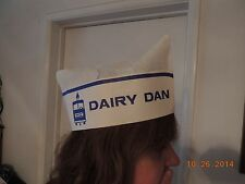 """VINTAGE 40's-50's """"DAIRY DAN"""" ICE CREAM MAN PAPER HAT CAP MILKMAN """"HALLOWEEN"""""""