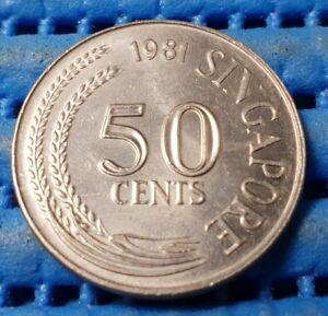 1981 Singapore 50 Cents Lion Fish Coin