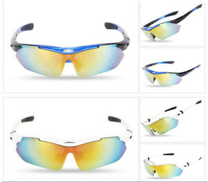 Cycling Polarized Sunglasses 5 Lens UV400 Outdoor Photochromatic Goggles Glasses