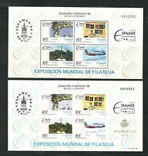 Spain: Souvenir sheet 2861 normal + luxury proof, mint NH. SP252