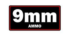 9mm ammo label can vinyl sticker decal bumper gun rifle glock bullet ar15 ak47