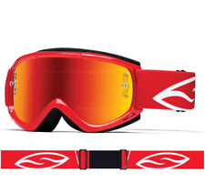 SMITH FUEL V1 MAX MIRROR MOTOCROSS MX BIKE GOGGLES RED with RED MIRROR LENS