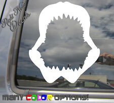 Shark Jaws Teeth - Tiger Mako Great White Auto Window Vinyl Decal Sticker 01078