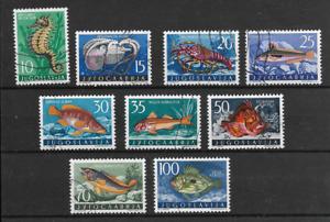 YUGOSLAVIA   @   GOOD SET  FISH  @122-540