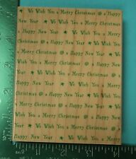 Large WE WISH YOU A MERRY CHRISTMAS Background Rubber Stamp by Hero Arts