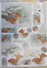 3D A4 Die Cut Paper Tole Decoupage Christmas Deer 2 pictures No Cutting NEW