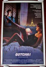 GOTCHA Original (1985) 27x41 Movie Poster ~ Sexy Paris ROLLED VF - NM CONDITION!