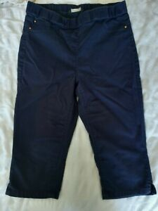 Blue Cropped Trousers (Pedal Pushers)  Size 10